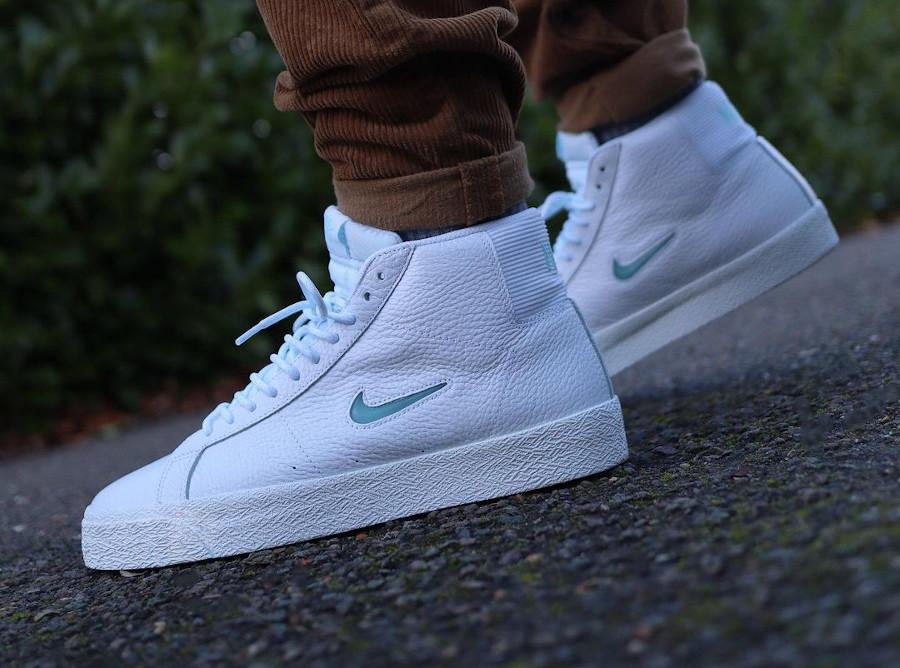 Nike SB Blazer Mid White Glacier Ice CU5283-100