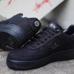 Stüssy x Nike AF1 Low Triple Black