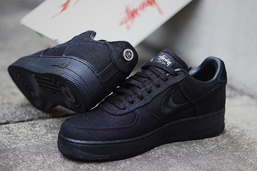 Nike x Stussy Air Force 1 Low Black Hemp CZ9084 0011