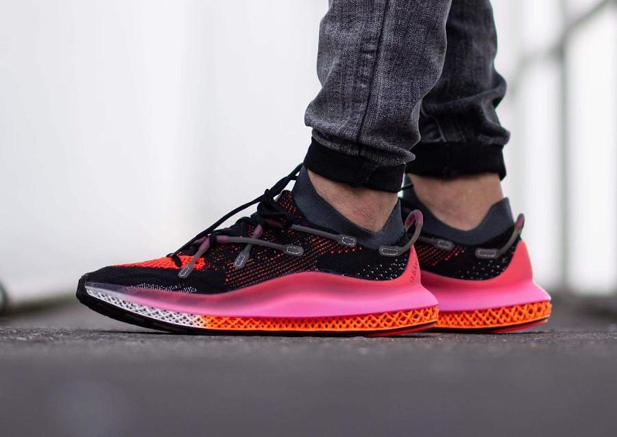 Adidas 4D Fusio noire orange et rose (11)