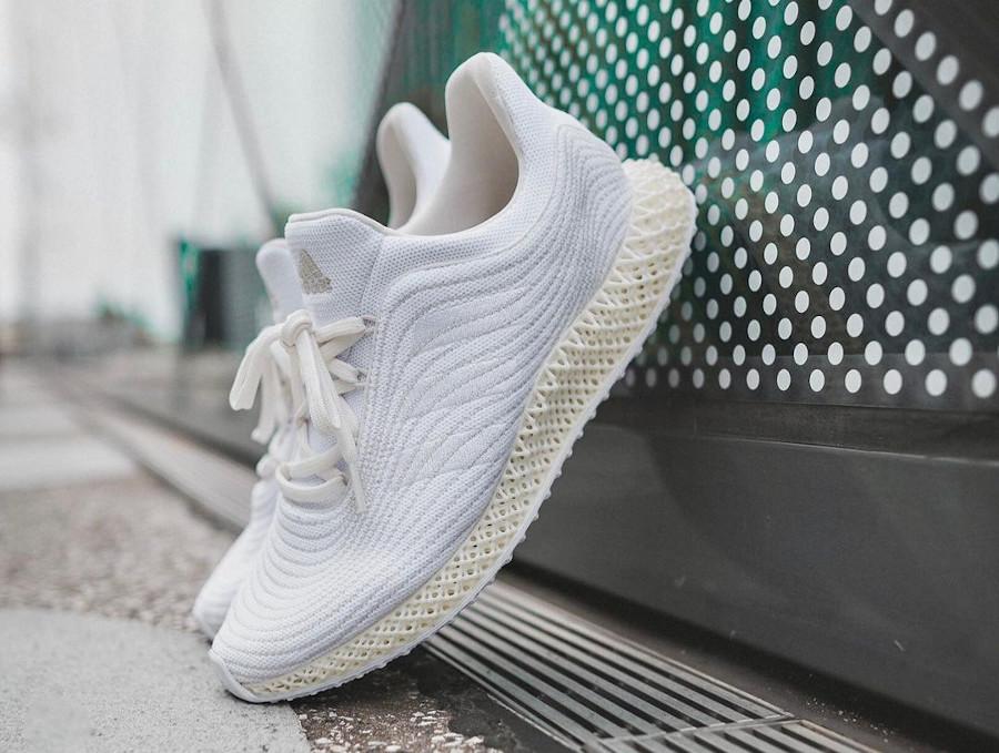 Adidas 4D en Primeknit recyclé blanc et beige (1)