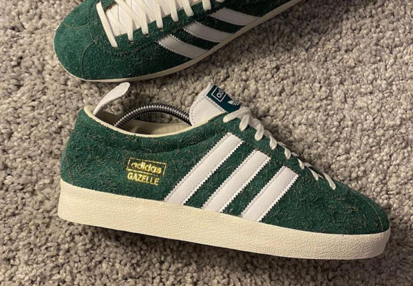 Adidas Gazelle Vintage 2021 Hairy Green Suede (couv)