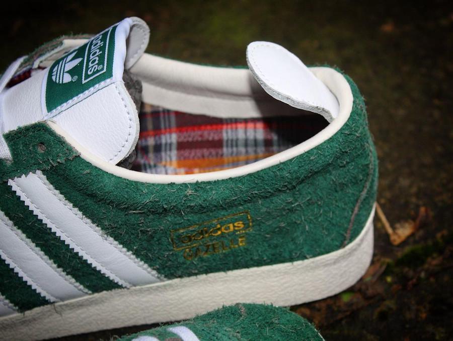Adidas Gazelle en daim poilu vert (4)