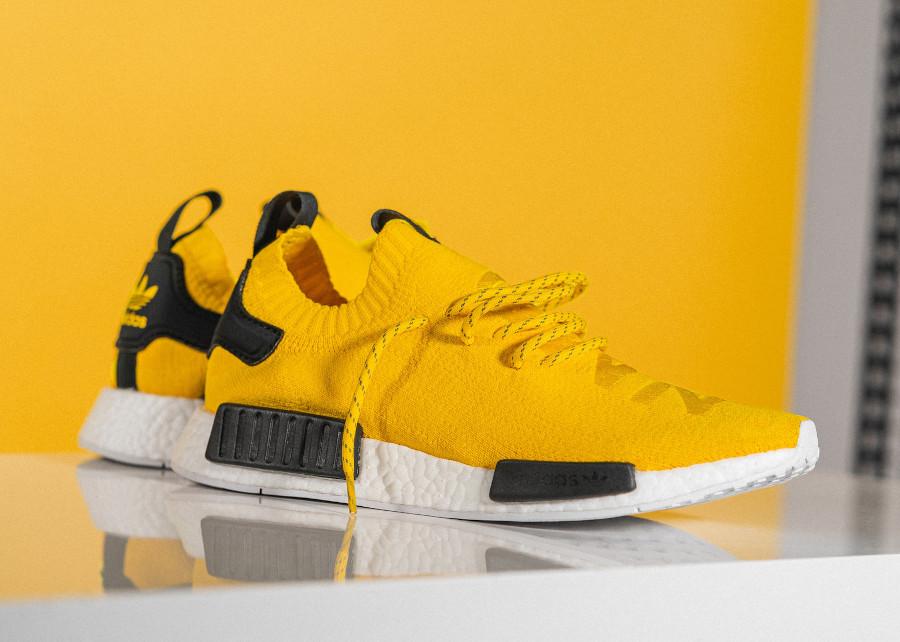 Adidas NMD Primeknit jaune et noire (1)