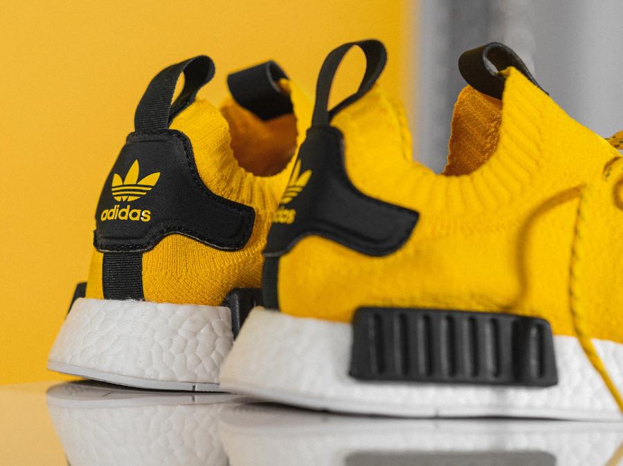 Adidas NMD Primeknit jaune et noire (2)