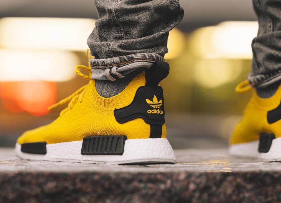 Adidas NMD Primeknit jaune et noire (4)