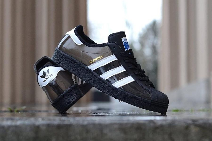 Adidas Superstar Skate 80 noire et transparente (1)
