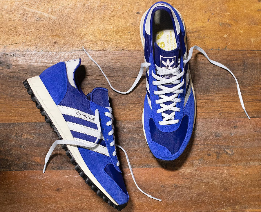 Adidas TRX Vintage bleu marine et grise (2)