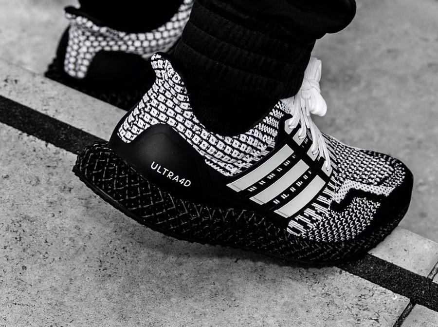 Adidas Ultra Boost 4D blanche et noire (1)