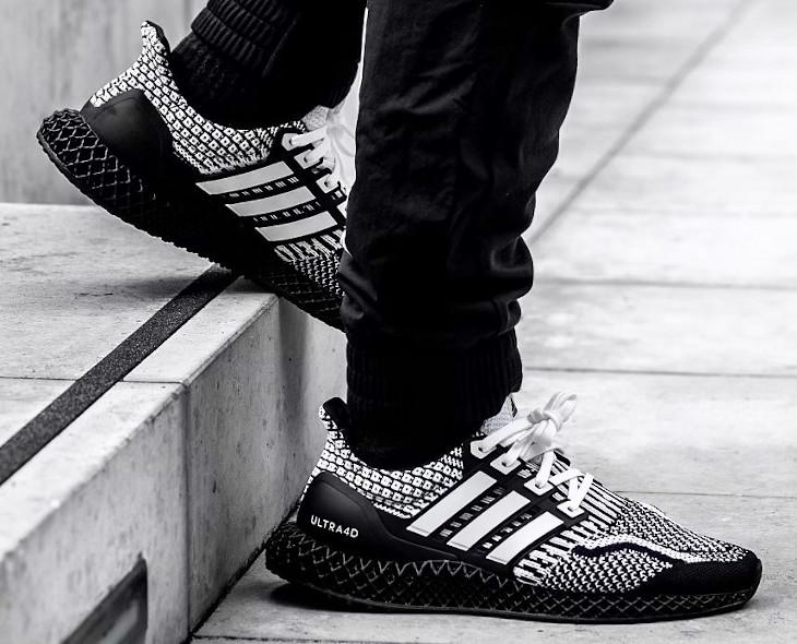 Adidas Ultra Boost 4D blanche et noire (3)