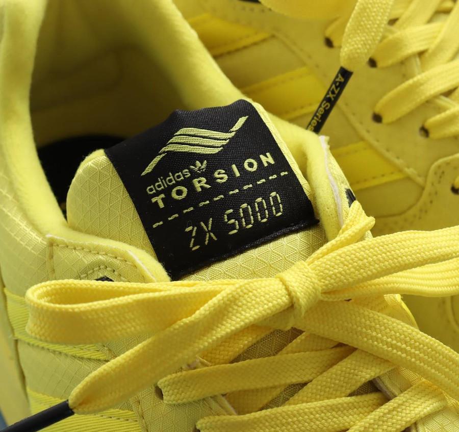 Adidas ZX 5000 toute jaune (1)