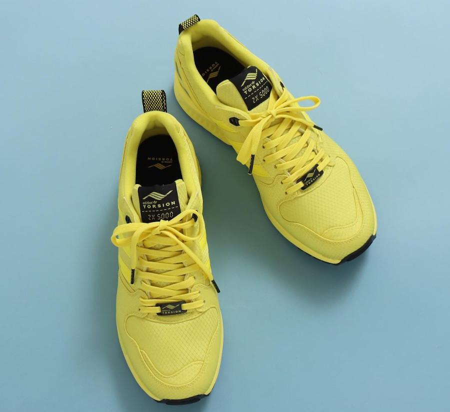 Adidas ZX 5000 toute jaune (2)