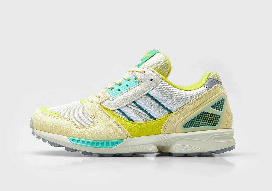 Adidas ZX 8000 2021 jaune citron et vert menthe (2)