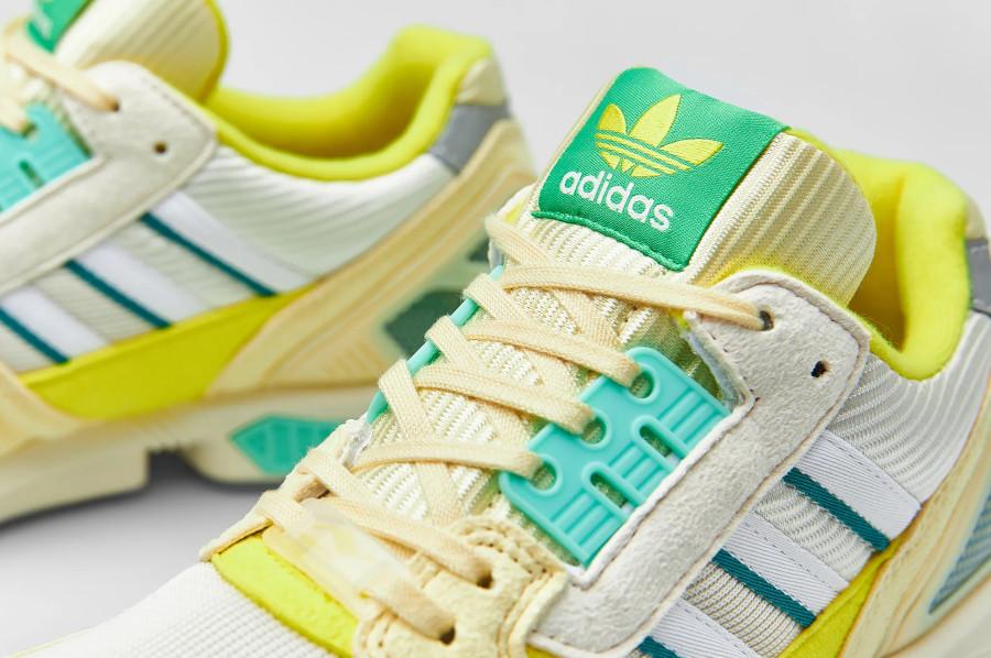 Adidas ZX 8000 2021 jaune citron et vert menthe (4)