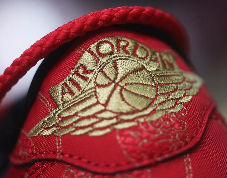 Air Jordan 1 basse noire et rouge nouvel an chinois (6)