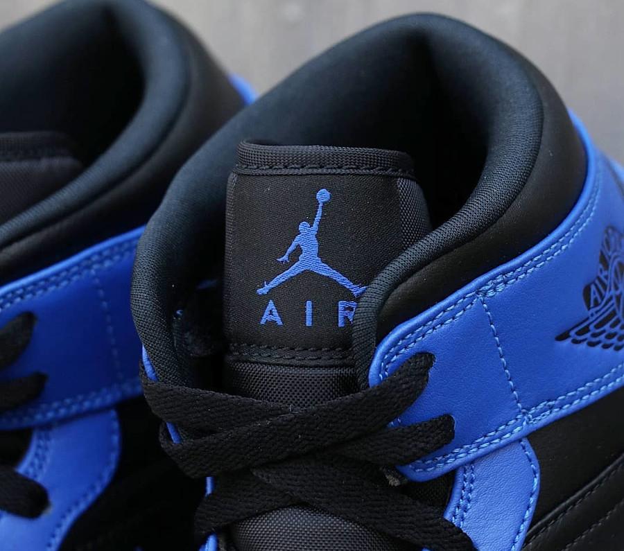 Air Jordan 1 mi-montante bleu et noir 2021 (1)