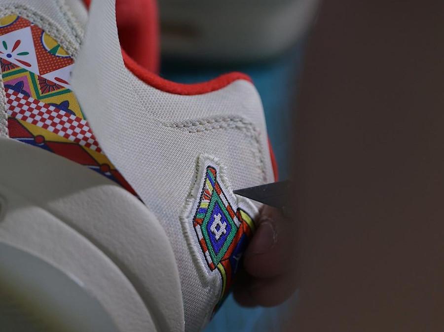 Air Jordan 5 basse en blanc cassé déchirable (1)