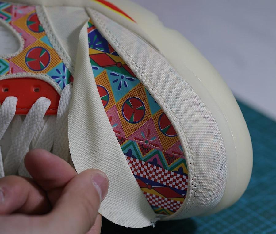 Air Jordan 5 basse en blanc cassé déchirable (3)