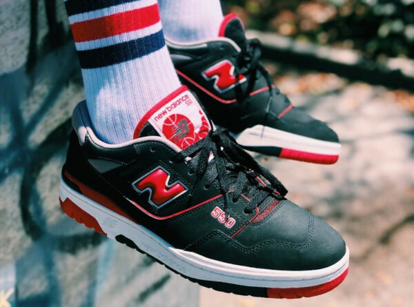 New Balance 550 BB550SG1 Bred Black Team Red