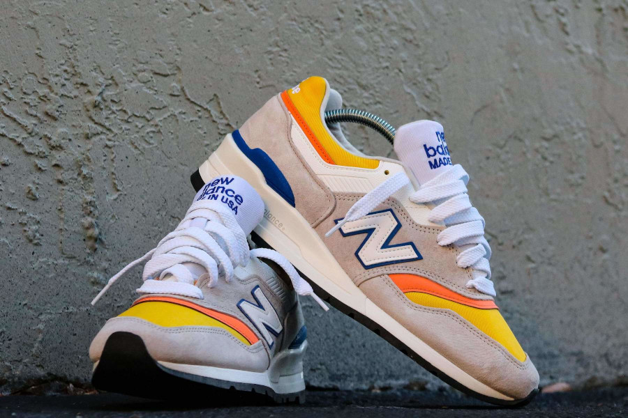 New Balance 997 grise orange jaune et bleue (3)