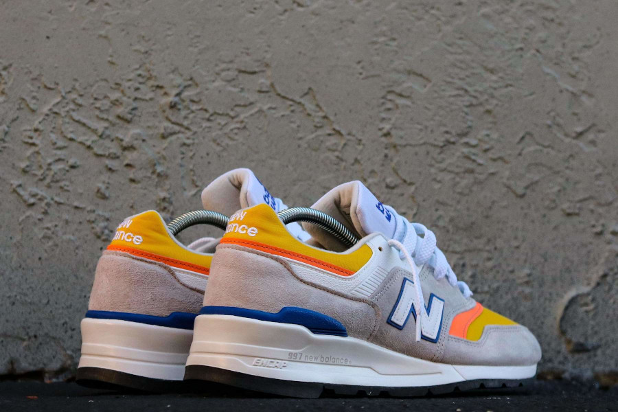 New Balance 997 grise orange jaune et bleue (4)