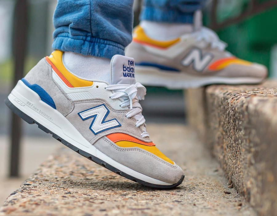 New Balance 997 grise orange jaune et bleue (5)