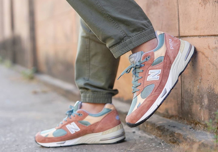 New Balance x Patta 991 M991PAT Dusty Pink Light Petrol