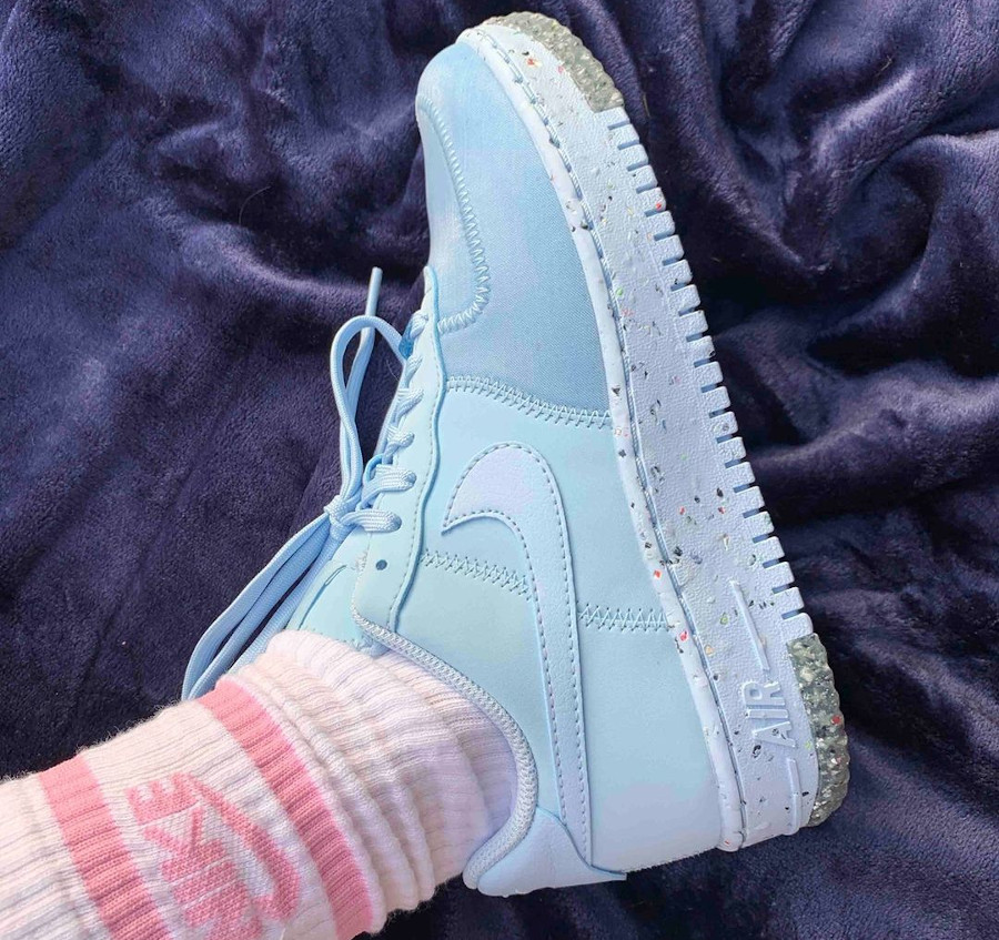 Nike AF1 Grind bleu avec taches de peinture multicolore (2)