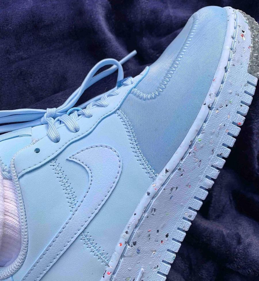 Nike AF1 Grind bleu avec taches de peinture multicolore (3)