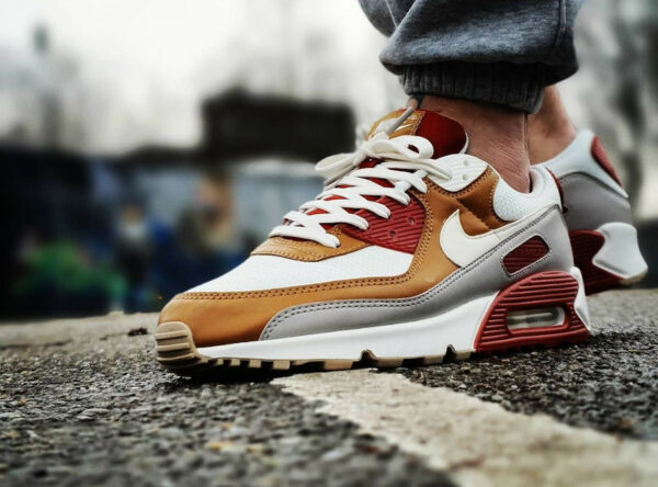 Nike AM90 Recraft Rugged Orange Sail Wheat CV8839-800