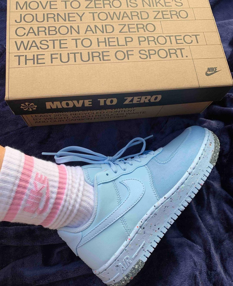 Nike Air Force 1 AF1 Crater Chambray Blue CT1986-400