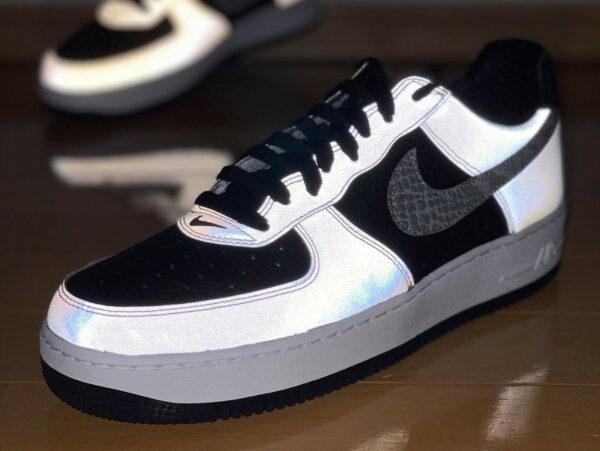 Nike Air Force 1 B Silver Snake 3M Reflective DJ6033-001 (couv)