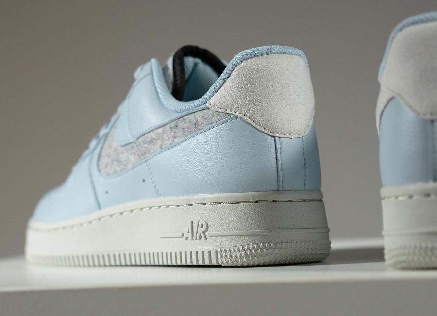 Nike Air Force 1 bleu pastel (laine recyclé) (2)