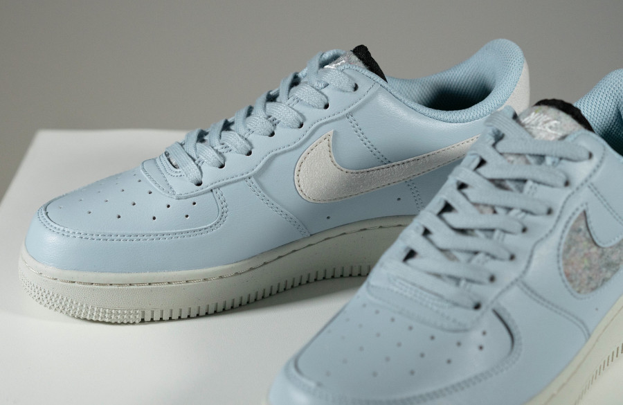 Nike Air Force 1 bleu pastel (laine recyclé) (3)