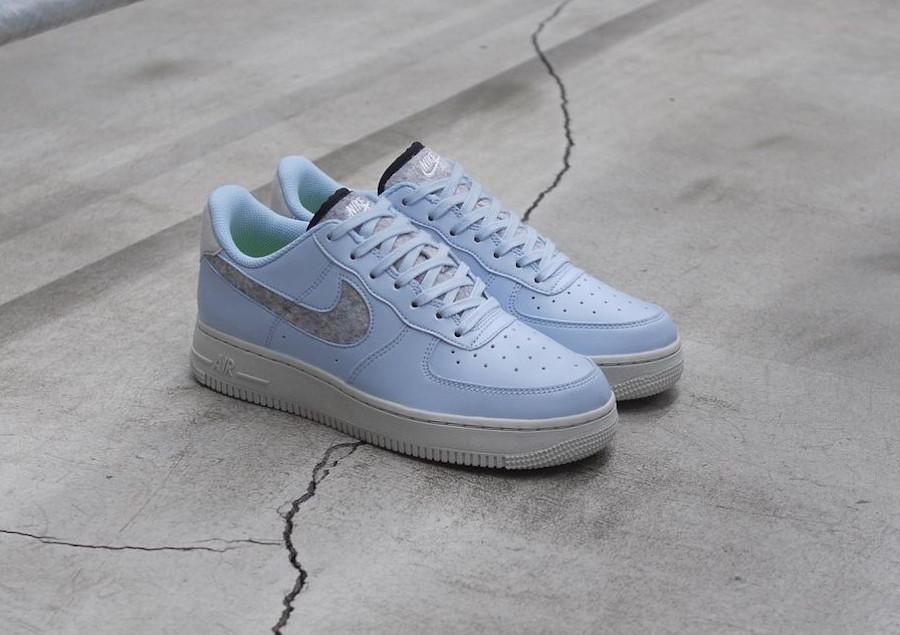 Nike Air Force 1 bleu pastel (laine recyclé) (4)