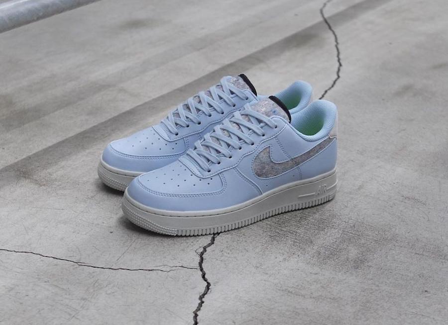 Nike Air Force 1 bleu pastel (laine recyclé) (5)