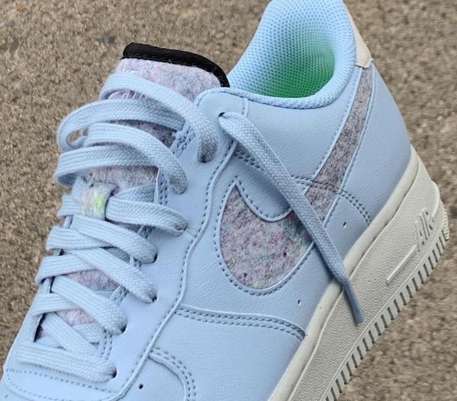 Nike Air Force 1 bleu pastel (laine recyclé) (7)