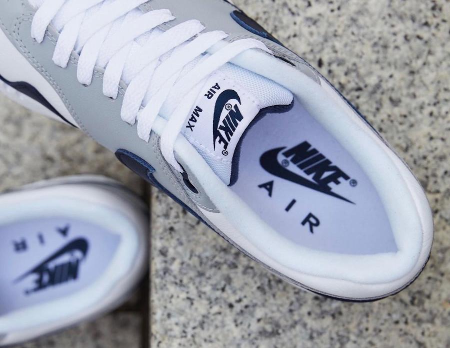 Nike Air Max 1 en cuir gris et bleu marine (6)