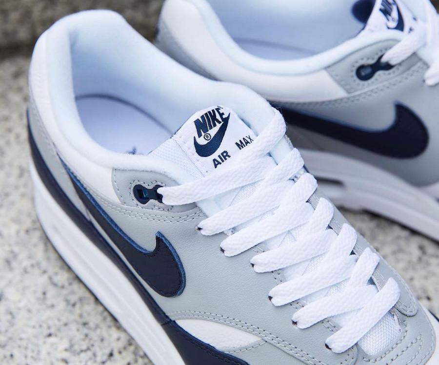 Nike Air Max 1 en cuir gris et bleu marine (7)