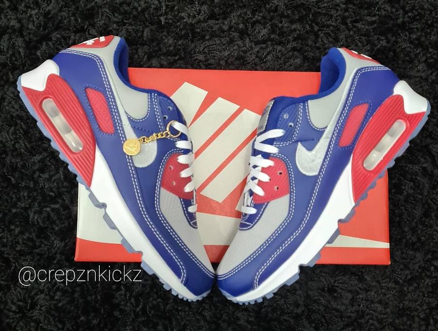 Nike Air Max 3 2021 grise bleue et rouge (2)