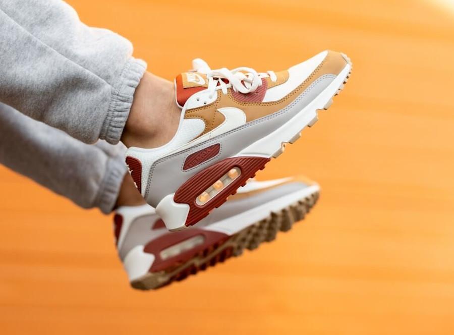 Nike Air Max 3 2021 grise bordeaux et mandarine (3)