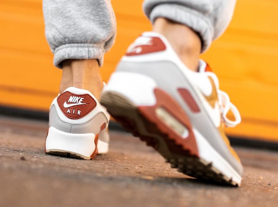 Nike Air Max 3 2021 grise bordeaux et mandarine (4)