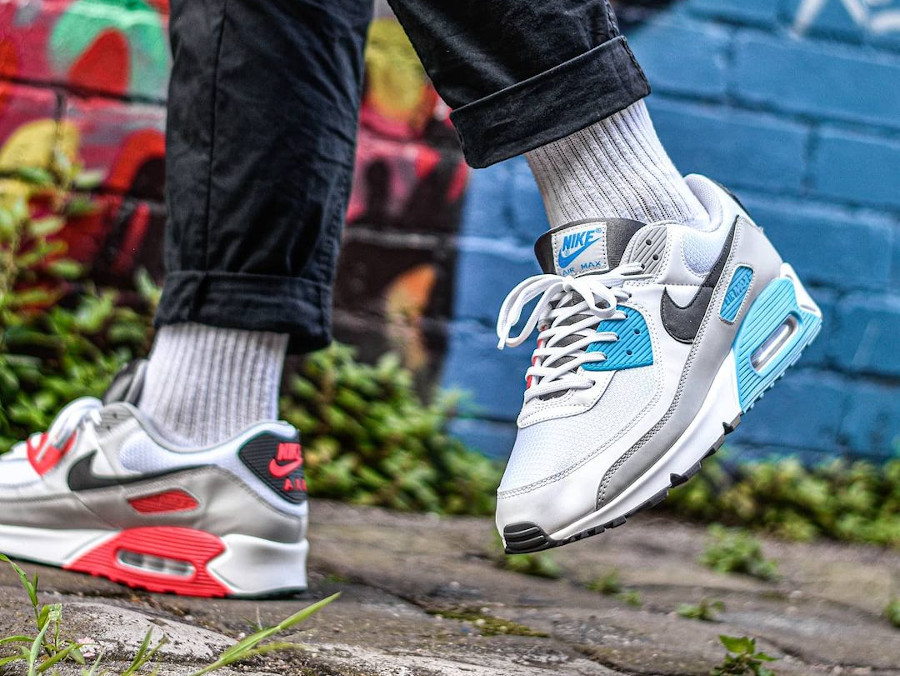 Nike Air Max 90 Chlorine Blue Light Fusion Red CV8839-100