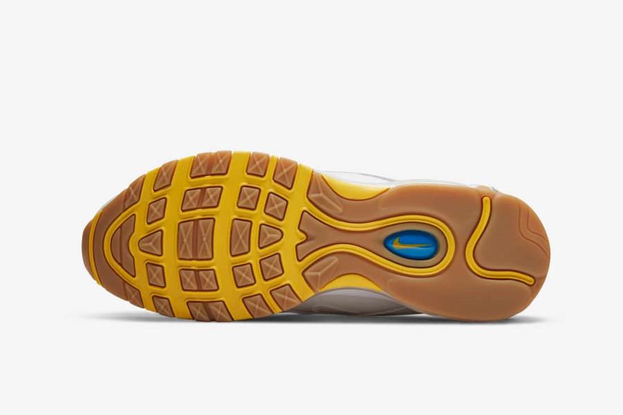 Nike Air Max 97 UNDFTD blanche jaune et bleue (3)