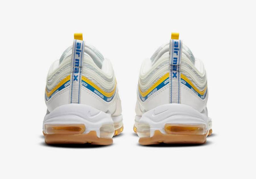 Nike Air Max 97 UNDFTD blanche jaune et bleue (5)