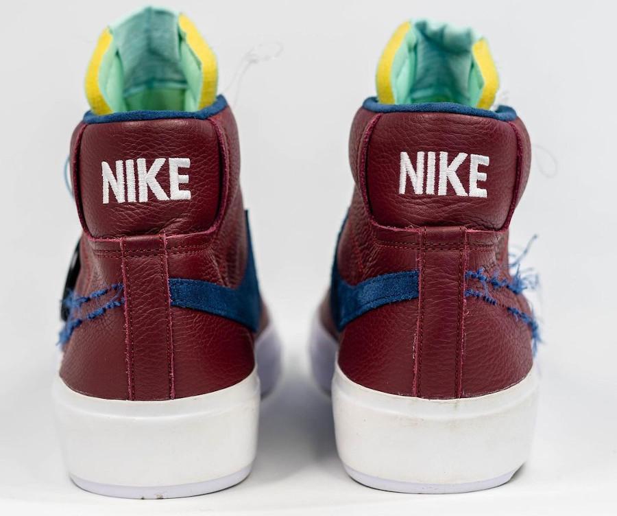 Nike Blazer Mid SB bordeaux beige et bleu (1)