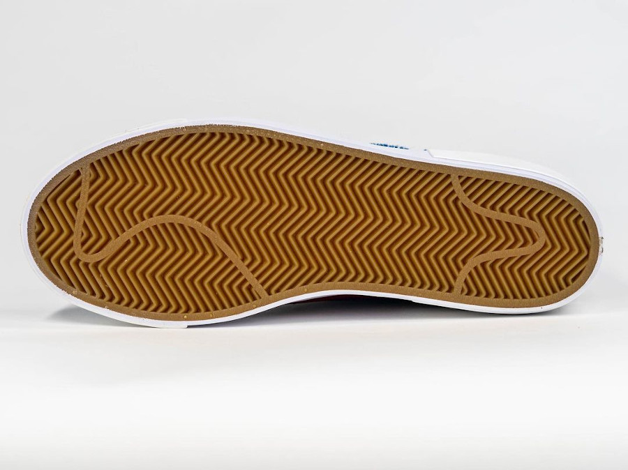 Nike Blazer Mid SB bordeaux beige et bleu (2)