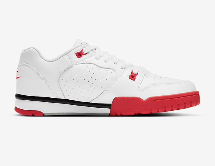Nike Cross Trainer Low blanche grise et rouge (3)