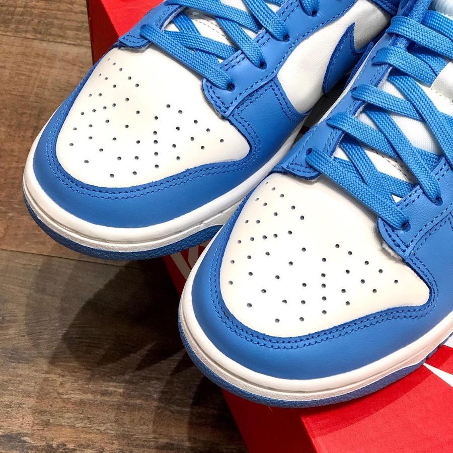 Nike Dunk Low 2021 blanche et bleu ciel (1)