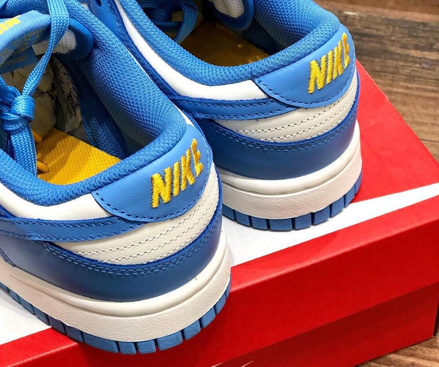 Nike Dunk Low 2021 blanche et bleu ciel (2)